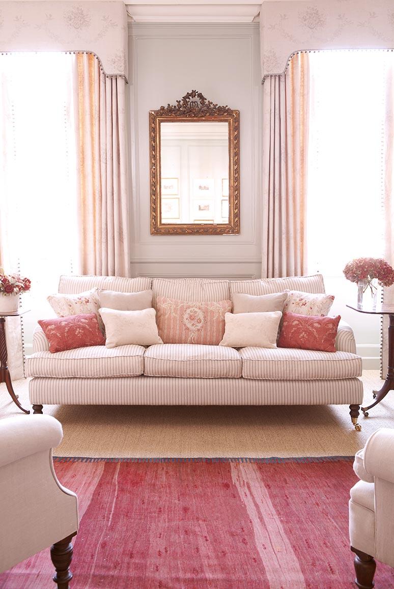 Charcoal Stripe Sofa