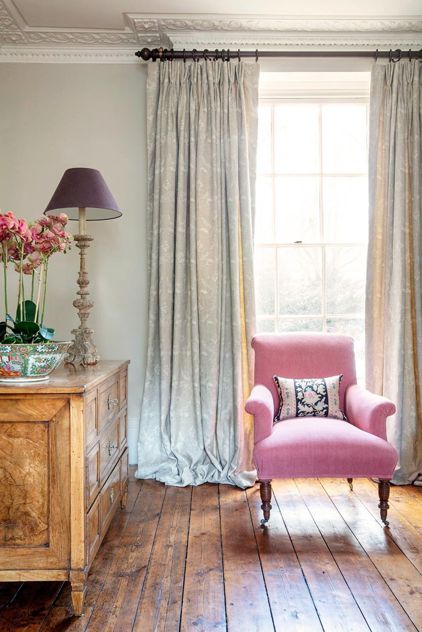 Old-Rose-Pink-Chair-and-Josephine-Stone-Curtains