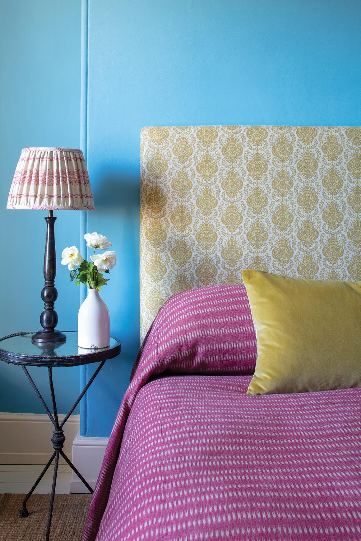 Maya Bedspread and Margot Yellow Headboard