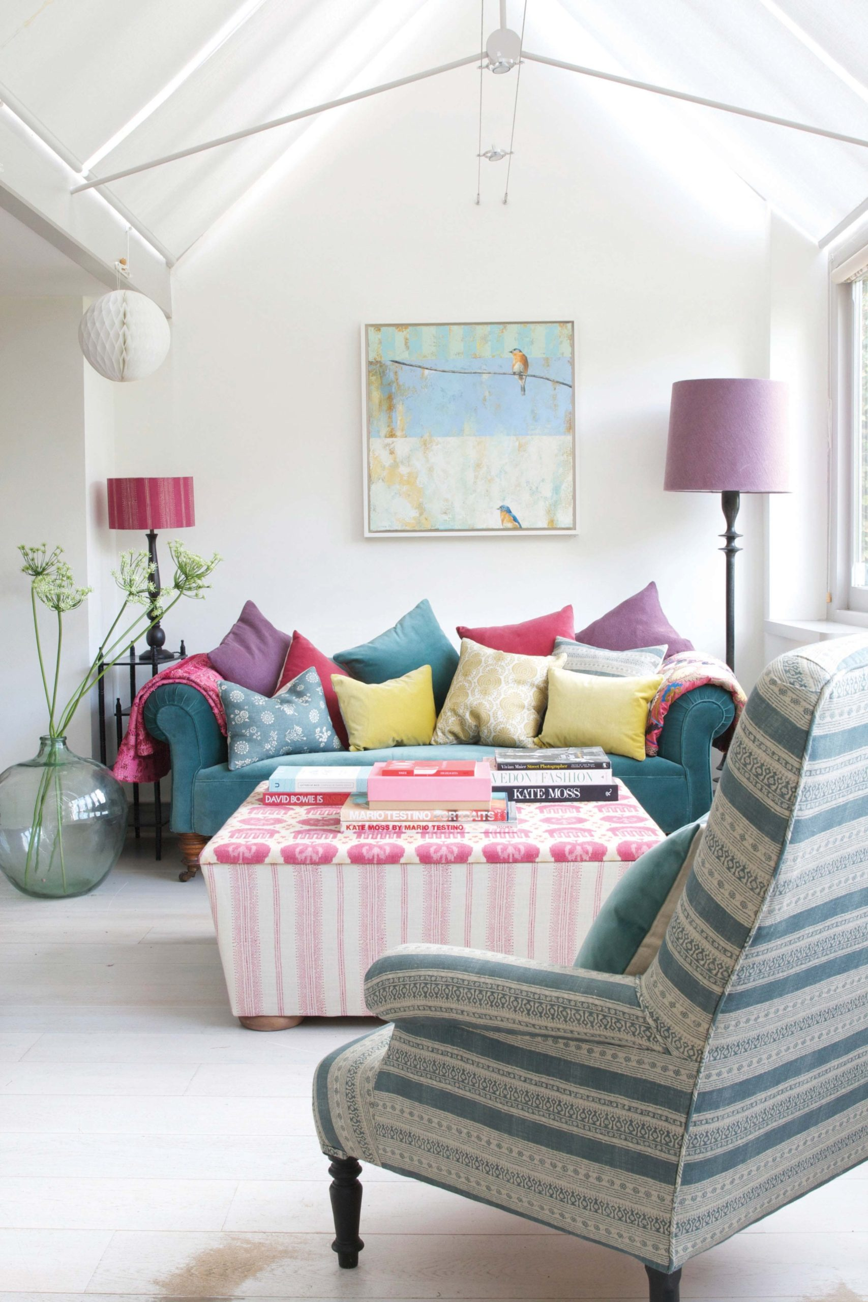 Kate Forman Ottoman & Cushions