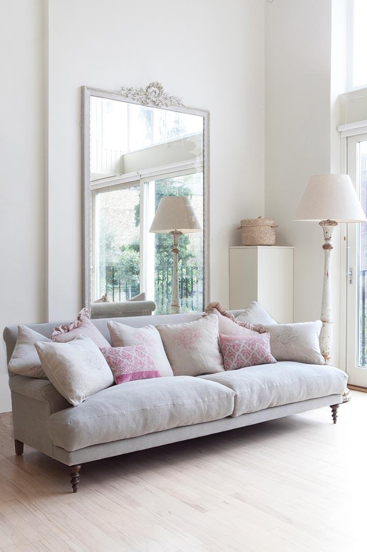 Cushion Assortment on Sofa