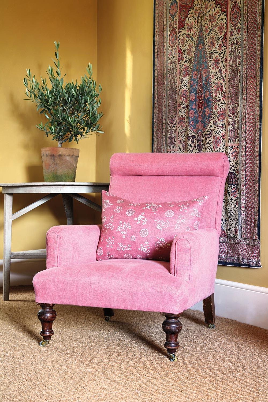 Old Rose Stonewash Chair