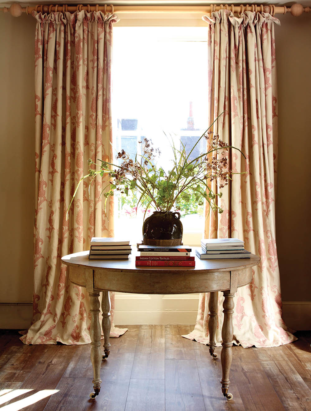 Maizie Red Curtains Hall