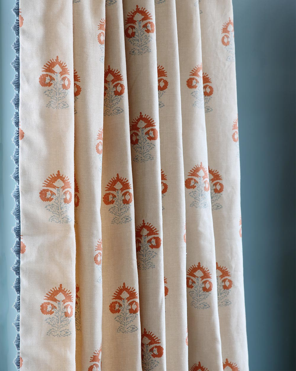 Iona Orange Curtain Close Up