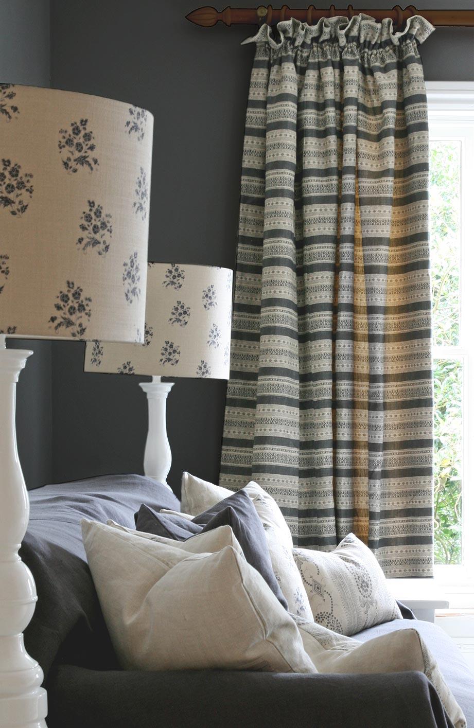 Anoushka Charcoal Curtain