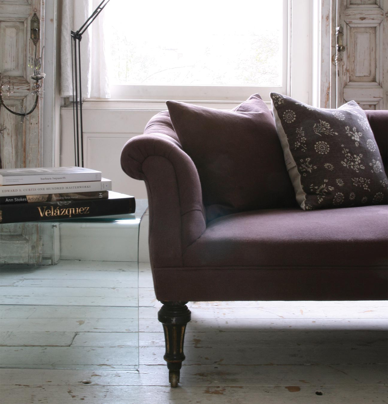 Aubergine Sofa CROP